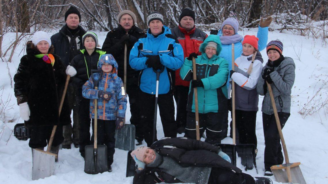 Активисты ОНФ в рамках акции «Снежный фронт» обустроили лыжную трассу в Горно-Алтайске