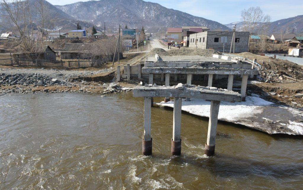 Восстановление моста в Онгудае будет ускорено