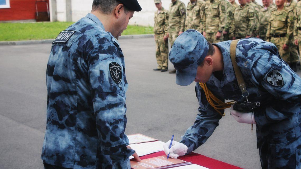 В Управлении Росгвардии по Республике Алтай состоялось торжественное построение, посвященное  Дню России
