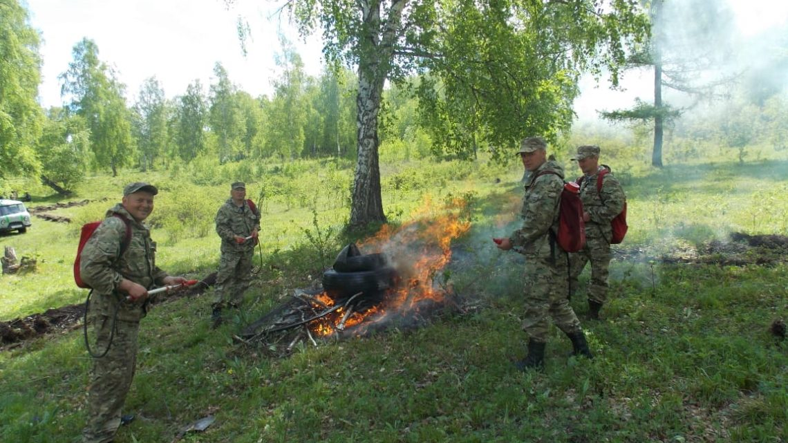 Международные пожарно-тактические учения прошли в ТБР «Большой Алтай»
