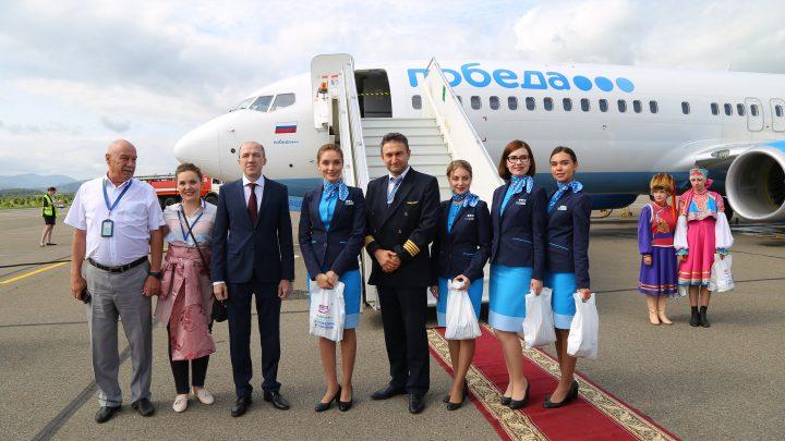 В аэропорту «Горно-Алтайск» приземлилась первая «Победа»