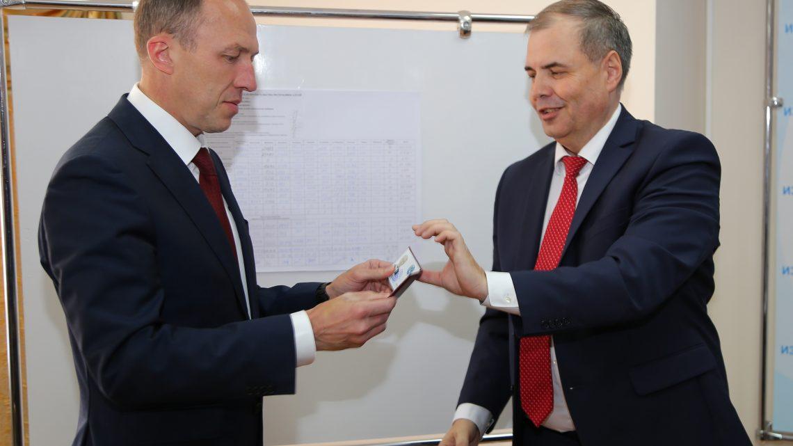 Олегу Хорохордину вручено удостоверение главы