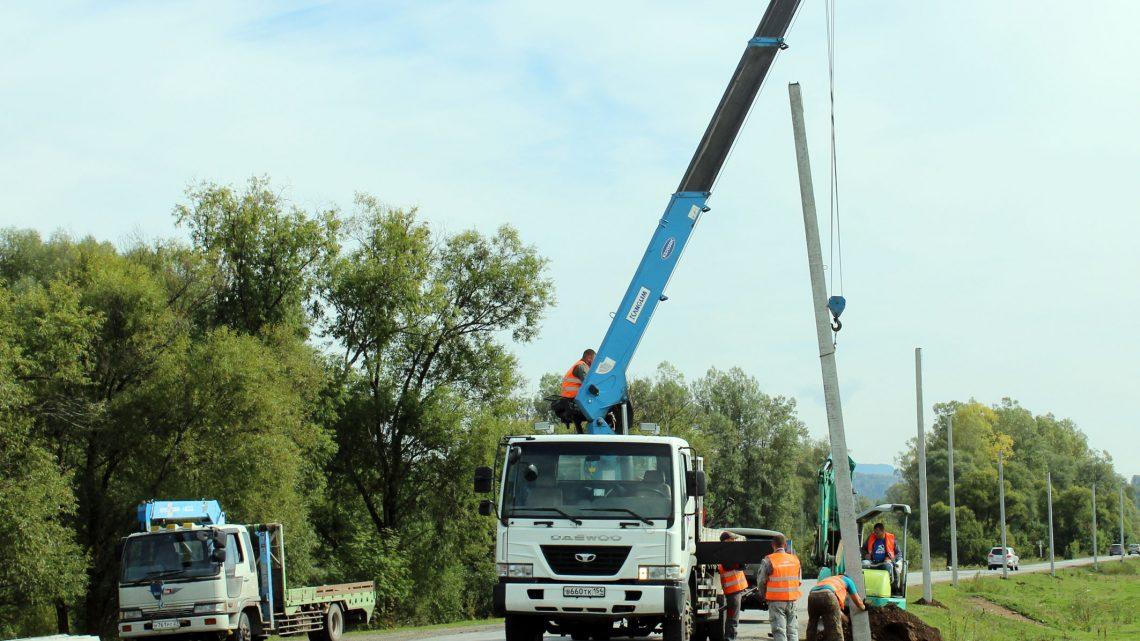 В Туньже обустраивают электроосвещение дороги на Артыбаш