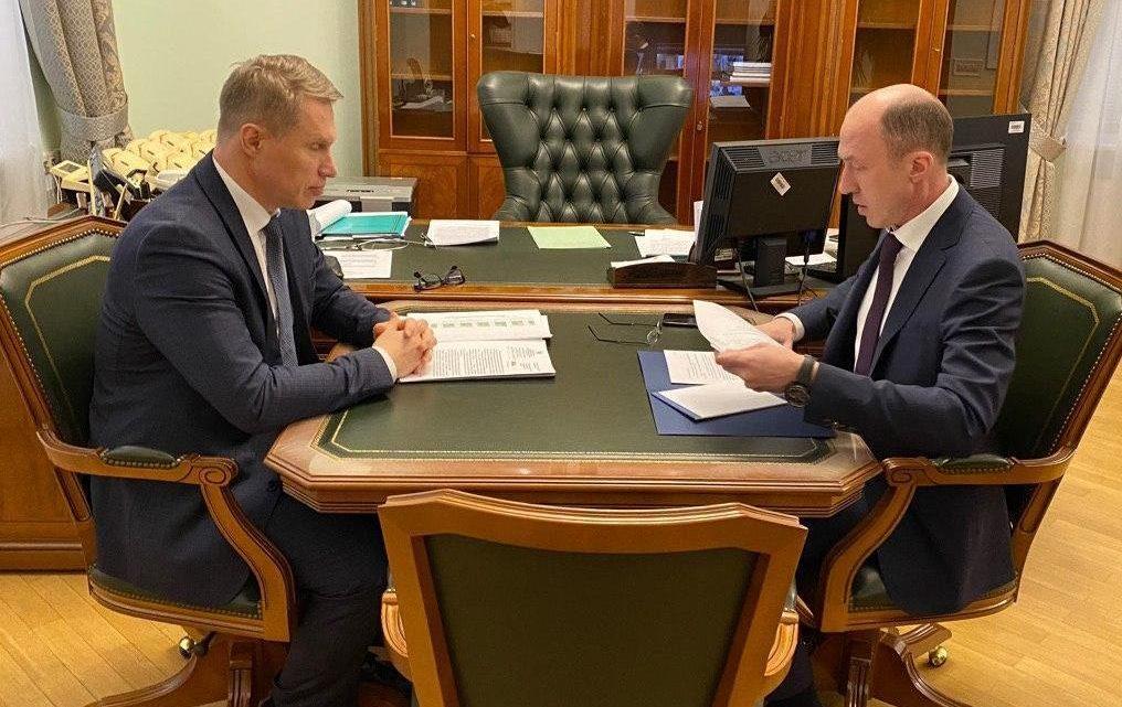 Олег Хорохордин и Михаил Мурашко обсудили строительство нового перинатального центра в Республике Алтай