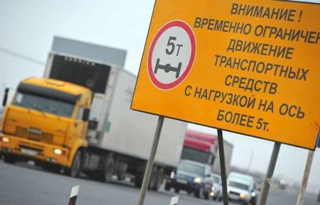 На дорогах республики введут весенние ограничения по массе автомобилей