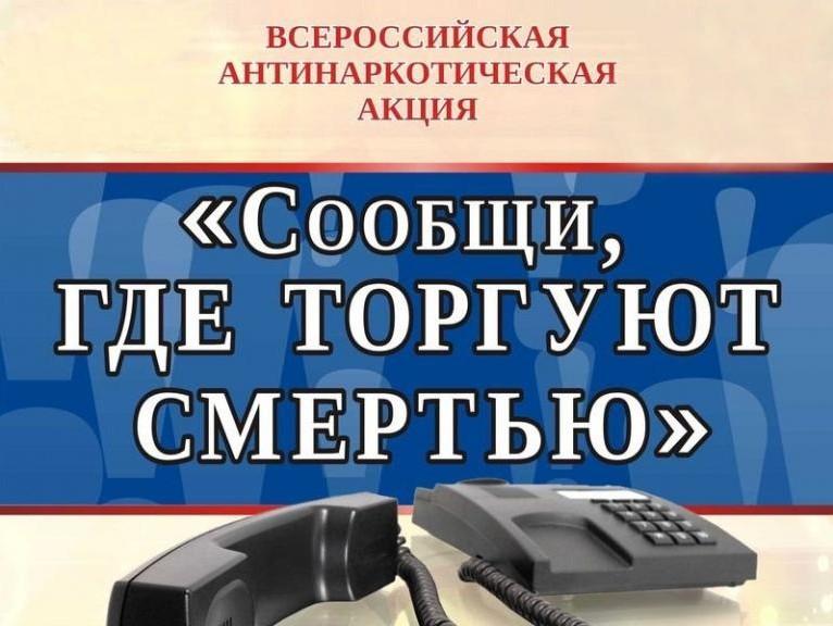 Сообщи, где торгуют смертью. В Республике Алтай стартовал первый этап общероссийской акции